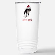 Boston Terrier Christma Travel Mug