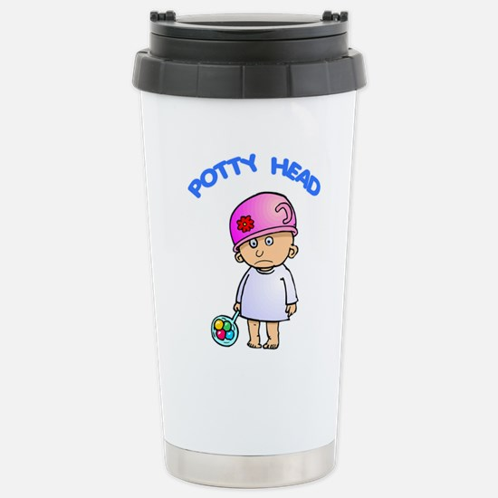 FIN-potty-head.png Stainless Steel Travel Mug