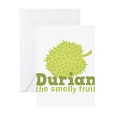 Durian the smelly Fruit! Greeting Cards