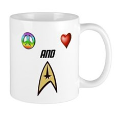 Peace Love and Trek Mugs