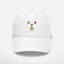 Peace Love and Trek Baseball Baseball Baseball Cap