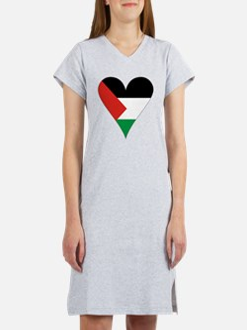 Funky Heart Shaped Palestinian  Women's Nightshirt
