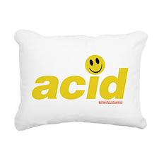 Acid Smiley Rectangular Canvas Pillow