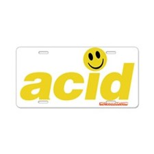 Acid Smiley Aluminum License Plate