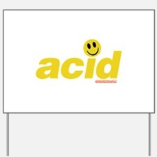 Acid Smiley Yard Sign