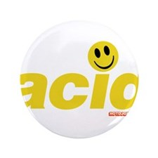 "Acid Smiley 3.5"" Button"