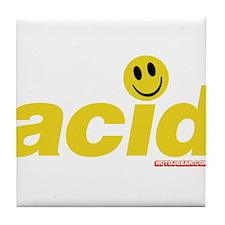 Acid Smiley Tile Coaster
