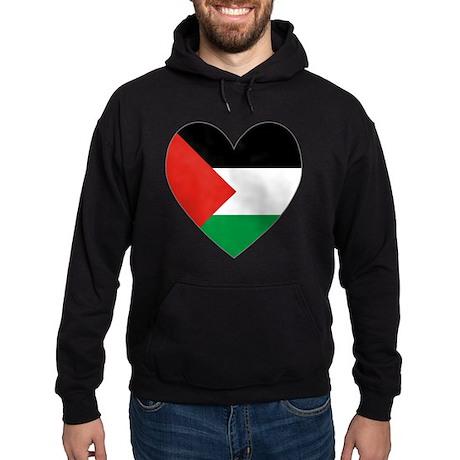 Palestinian Flag Heart Valentine Hoodie (dark)