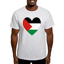 Palestinian Flag Heart Valentine T-Shirt