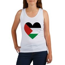 Palestinian Flag Heart Valentine Women's Tank Top