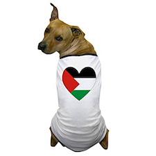 Palestinian Flag Heart Valentine Dog T-Shirt