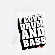 I Love Drum And Bass Greeting Card