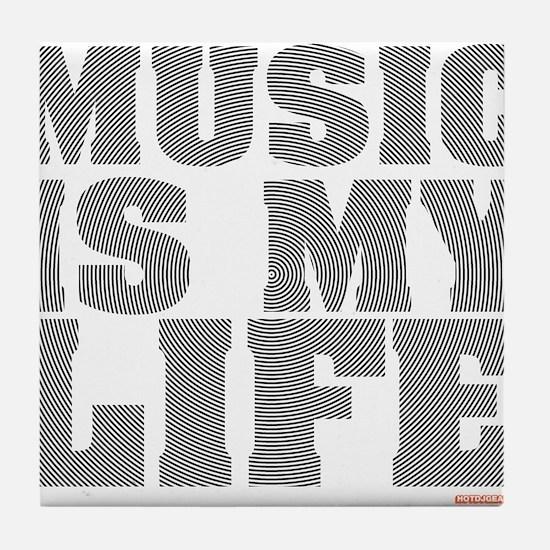 Music Is My Life Vinyl Tile Coaster