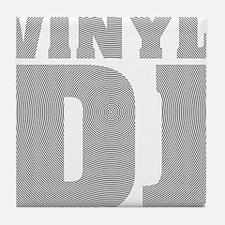 Vinyl DJ Grooves Tile Coaster
