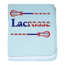 Lacrosse Stars and Stripes baby blanket