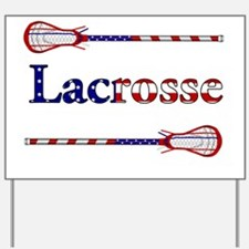 Lacrosse Stars and Stripes Yard Sign