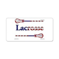 Lacrosse Stars and Stripes Aluminum License Plate