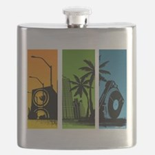 Turntable City Flask