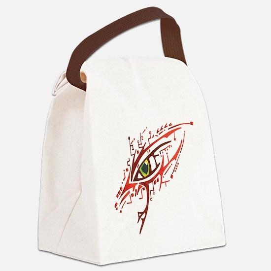Cyber Eye Canvas Lunch Bag