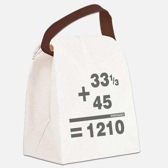DJ Maths Canvas Lunch Bag