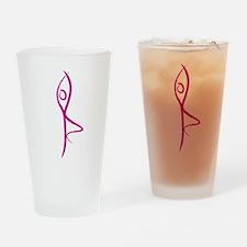 Yoga Tree Pose Drinking Glass