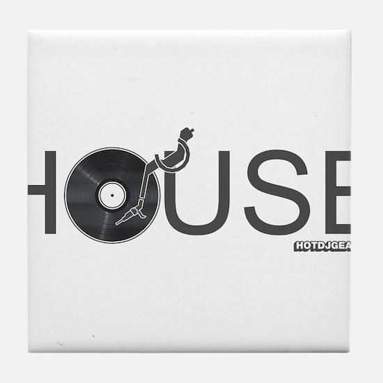 House Vinyl Tile Coaster