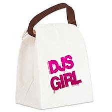 DJs Girl Canvas Lunch Bag