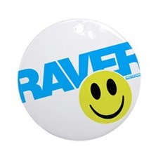 Raver Smilie Ornament (Round)