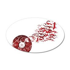 Vinyl Music Birds Wall Decal