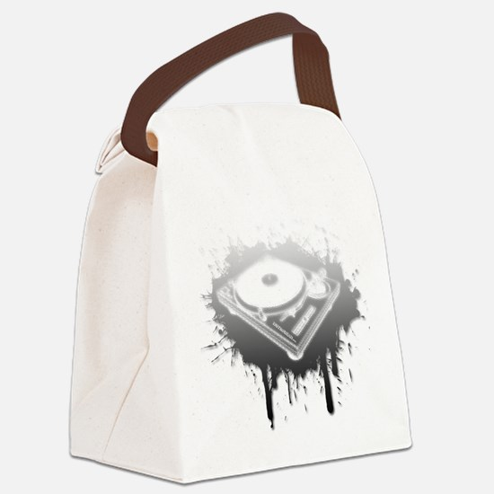 Graffiti Turntable Canvas Lunch Bag