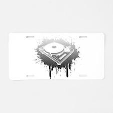 Graffiti Turntable Aluminum License Plate