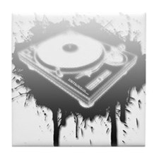 Graffiti Turntable Tile Coaster