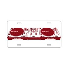 Stanton DJ Setup Aluminum License Plate