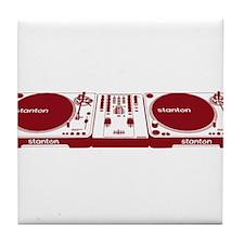 Stanton DJ Setup Tile Coaster