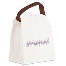 Sound Waves Canvas Lunch Bag