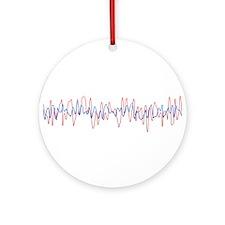 Sound Waves Ornament (Round)