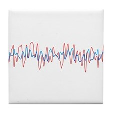 Sound Waves Tile Coaster