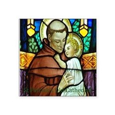 "St Anthony Square Sticker 3"" x 3"""