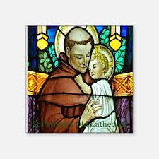 "St Anthony Square Sticker 3"" x 3"""