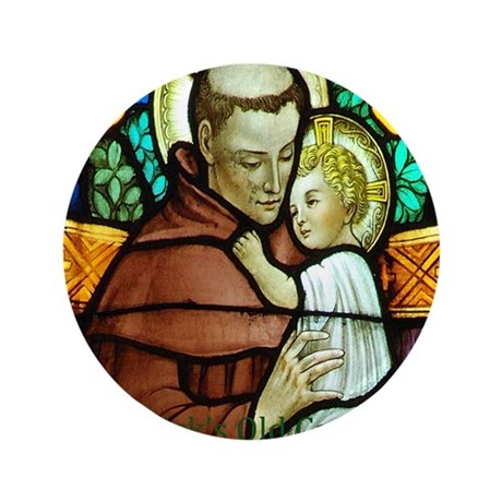 "St Anthony 3.5"" Button"