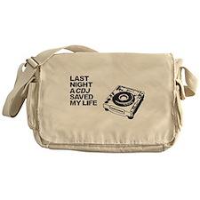 Funny Disc jockey Messenger Bag
