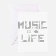 Music Is My Life Greeting Cards (Pk of 20)