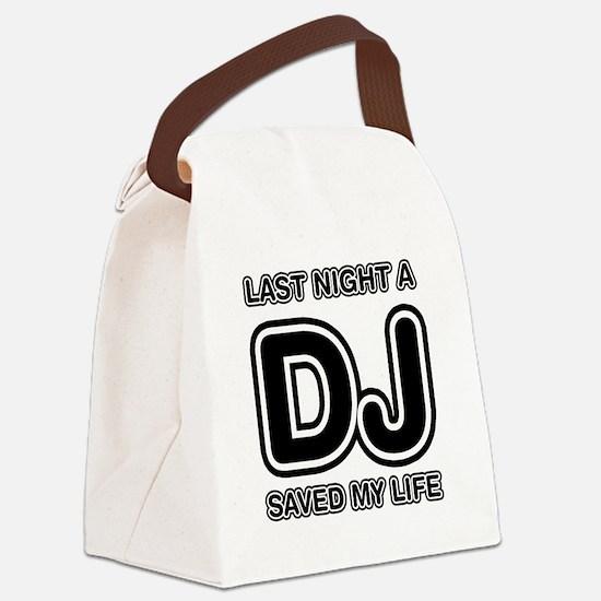 Funny Disc jockey Canvas Lunch Bag