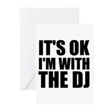 It's Ok, I'm With The DJ Greeting Cards (Pk of 20)