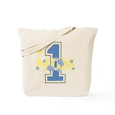 #1 Mom Cornflower Tote Bag