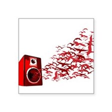 """Fly away with the music Square Sticker 3"""" x 3"""""""