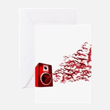 Fly away with the music Greeting Card