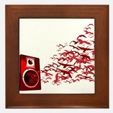 Fly away with the music Framed Tile