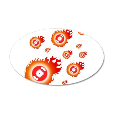 flaming 2.png 20x12 Oval Wall Decal
