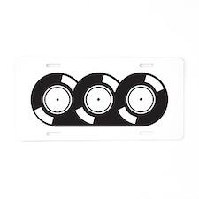 3records.jpg Aluminum License Plate
